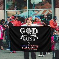 3x5ft Trump Flags 2024 Campagna Banner Trump God Guns Bandiera DHL Consegna gratuita