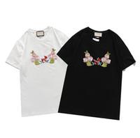 2021 Nuovi Designer T Shirt T-shirt Mens Pure Cotton Top Brands Ricamo con tendenza a maniche corte del classico Top a maniche corte Slim traspirante