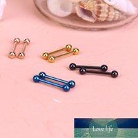1 ADET 316L Paslanmaz Çelik Dil Deldi Meme Yüzük Halter Vücut Piercing Takı Percing Dil Çiviler Barbell Barlar Yüzük