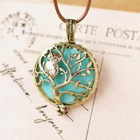 DIY Aromatherapy Necklace Perfume Locket Fragrance Oil Hollow Tree Pendant Necklace for Women Diffuser Necklace Jewelry Gift ps1019