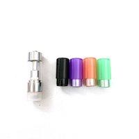 Colorido M6T Press Tips Drip Tips Vape Pen Cartucho de aceite Punta desechable redonda de plástico para G5 D8 Delta 8 Atomizador 0.5ml 1.0ml Tanques