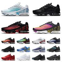 2020 Yeni Nike Air Max Tn Plus 3 Airmax Tns Ayarlı Artı Erkekler Kadınlar Üçlü Siyah Tüm Beyaz Artı Tn Crimson Kırmızı hava Koşu Ayakkabı Eğitmenler Sneakers