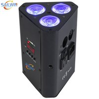 Venta caliente 3x18w 6in1 RGBAW UV batería inalámbrica DJ LED Cube Par Light Disco Lighting Lighting para la fiesta de eventos