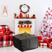 Storage Bags Folding Large Xmas Tree Bag Durable Reinforced Zipper Waterproof Material Protects Travel Clothes Luggage Organizer