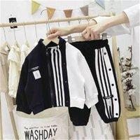 Boys 2021 Spring Clothes Sets Autumn Children Fashion Cotton Coat Pants 2pcs Tracksuits For Baby Boy Kids Casual Sports Suits 8Y