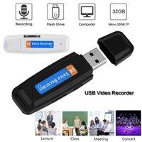 Araba DVR Mini Küçük U Disk USB Ses Kalem Dictaphone Profesyonel Flash Sürücü Dijital Ses Kaydedici Micro SD