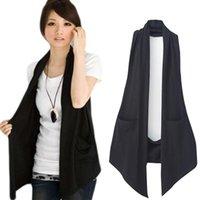 Women's Vests Spring Autumn All-match Slim Black Colete Vest Casual Waistcoat Ladies Clothing Coats
