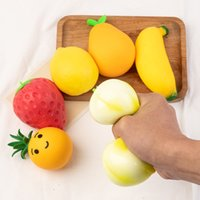 2021 pop it Fidget Toy Favor designer Creative novelty fruit vegetable squeeze ball decompression soft rubber vent balls children's toys