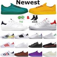 Adidas Stan Smith Platform Bayan Günlük Ayakkabılar Zapatillas Sapatos Chaussures Scarpe Üçlü Beyaz Siyah Daireler Sneaker 36-45 Bayan