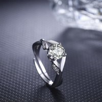 Wedding Rings European And American Fashion Ideas Are Set With Zircon Adjustable Ring