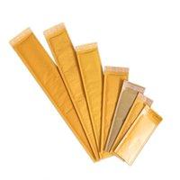 Emballage de protection jaune Kraft Papier Bubble Sac Self Sceau Adhésif Bubbles Mailer Longues Sacs de messagerie Packages antichoc packagings enveloppe