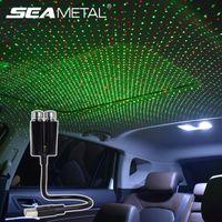 Atmosfera auto Light USB Auto Auto Interior Star Lamp Star Universale 360 Rotazione Rotazione Night Night Night Ambient Ambient Lampada Accessori