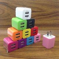 لون الحلوى 5 فولت 2.1a شاحن USB المزدوج لنا الاتحاد الأوروبي العالمي سفر الجدار شواحن الهاتف الخليوي 10 ألوان
