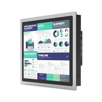 Monitoren 10 12 15 17 inch Industrial PC Monitor Capacitive Touchscreen met VGA USB-interface Tablet Display Ondersteuning OEM ODM
