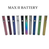 Max II 2 Batterie 450mAh Variable Spannung VV VAPE MOD Stift mit unten USB-Aufladung für 510 dicke Ölpatronen 10 Farben