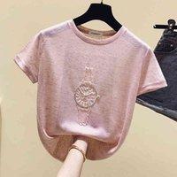 Women's T-Shirt Shintime female account shirt, summer shirt for women, short sleeves , Korean clothes 0VFH