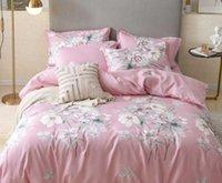 Sets Designer 4pcs Silk Bedding Woven Queen King Size European Style Quilt Cover Pillow Cases Bed Sheet Duvet Comforter Covers