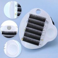 False Eyelashes Fake Eyelash Tray Strip Stand 3 In 1 Adhesive Pallet Holder Pad With Belt Forehead Hand Plate For Eye Lashes Extensions