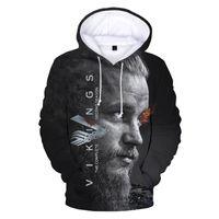 2021 New Vikings Ragnar Lothbrok 3D Hoodies Sweatshirt Round Neck Hoodie Fashion Men women Pullovers Streetwear Vikings Clothes