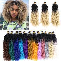 Capelli all'uncinetto sintetico Capelli intrecciatura Capelli Estensioni Water Wave Treids Blonde 613 Bundles Freetress Afro Kinky Twist Bulk