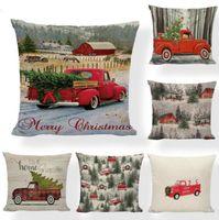 Kissenbezug Weihnachtskissenbezüge Weihnachtsbaum Wurfkissenbezug Rot Auto Druckkasten Sofa Couch Kissenbezug Weihnachten BWB9283