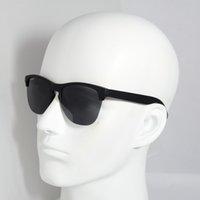 Lunettes de soleil de style de grenouille de mode à cyclisme de mode Demi-TR90 lunettes de cadre UV400 Polarized Lens Convient à la pêche sportive de plein air masculine et féminine