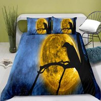 Bedding Sets 100% Polyester Moon Digital Printing Duvet Cover Set With Pillowcase Boys And Girls Comforter