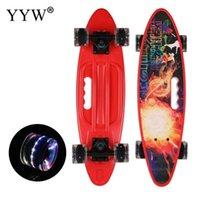 Skateboarding yyw 61cm / круглосуточная рыба доска Mini Cruiser Skateboard взрослый детский скутер банановая рыба доска открытый спорт портативный коньки