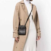 Ocio Bolsa de mujer Cuero Messenger Bag Mini Bolsa de teléfono móvil Niche Cowhide One Behing Niche Monedero