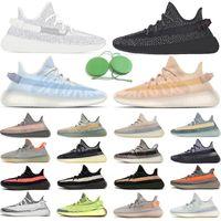 Freeshipping Statische reflektierende Laufschuhe Top Qualität Zebra Mono Eis Clay Cinder Earth Tail Light Herren Womens Sneakers Sports Größe 36-48 mit Tag