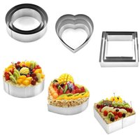 Baking Moulds 3 Pcs Set Stainless Steel Mousse Ring Mold Cookie Cutter Biscuit Pastry Tools Accessories Salad Form Tips