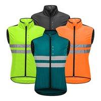 Summer Cycling Jersey Bike Windproof Cycle Jackets Riding Sleeveless Reflective tanks