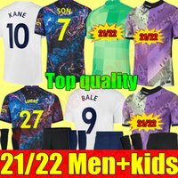 21 22 Juventude Dele Son Bale Kane de futebol Jersey Goleiro Gk Gk Hojbjerg Spurs Bergwijn Lo Celso 2021 2022 Lucas Futebol Camisas Uniformes Adulto Men + Kids Kit