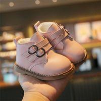 Botas de invierno de invierno moda espesar baby corto sin resolución suave sin resbalón más terciopelo caliente 0-3 años de edad pequeño 15-25