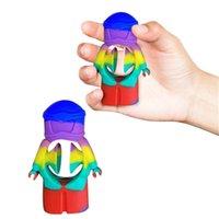 Venta al por mayor Fidget Toys Stress Relevista Autismo Autismo Necesidades Entrenador de pulsera Oficina Descompresión Silicona Grip Antistress Rainbow Sensory Toy