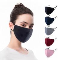 Наружная пыль Доступность мягкая хлопчатобумажная черная маска для лица многоразовая хлопчатобумажная дышащая маска для лица моющийся взрослый защитная хлопчатобумажная маска