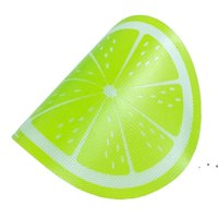 Yeni Yuvarlak Silikon Balmumu Dab Mat Silikon Dabbing Mat Limon Tasarım Yapışmaz Dabber Levhalar Dab Pad Kuru Herb Balmumu Yağı için EWE8235