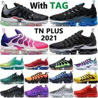 2022 Высочайшее качество TN PLUS Мужские кроссовки Black Royal Royal Gradients Blue Triple White Sunset Mens Trainers Женщины Мужчины Беги Кроссовки