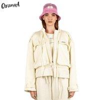 Giacche da donna Orangea Donna Autunno Inverno Moda Cappotto Cappotto Casual Casual Soprabito Zipper Jacket Caldo Coltivato Breasted Hip Hop Solid Outwear