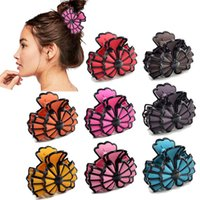 Hair Accessories Hairdress Women Scrub Paint Claw CHINA Origami Style Girl's Clamps Colorful Bowknot Large Clip