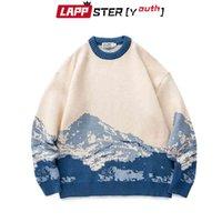 Leppster-Youth Men Harojuku Moutain Maglioni invernali Pullover Mens Oversized Corean Fashions Maglione Donne Vintage Vestiti vintage