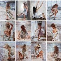 Dipinti Ruopoty Paint by numbers per adulti bambini figura ragazza immagine disegno home decor religione opere d'arte coloranti su tela