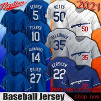 27 Trevor Bauer Jersey Los Béisbol Angeles Mookie Betts Cody Bellinger Jerseys Clayton Kershaw Pollock Corey Seaver Max Muny Chris Taylor