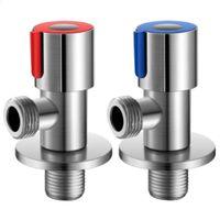 Winkelwinkelanschlag Wasserventil 304 Edelstahlhahn Wasserhahn Dreieckventil G1 / 2 für Badezimmer / Küche / WC-Taps JK2103XB