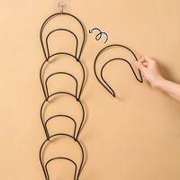 Hangers & Racks Fashion Baseball Cap Holder Hat Stackable Chain Storage Bag Hanger Organizer Wall Mount Door Closet 5 Pack Rack