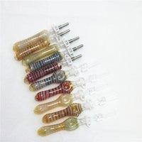 Nargile Mini Nektar Koleksiyoner Kiti 10mm Nektör Koleksiyonerler Dab Saman Yağı Sikleri Mikro NC Set Cam Su Borusu Titanyum İpucu