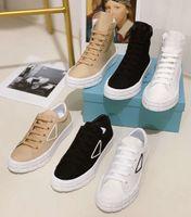 2021 Tasarımcılar Erkek Kadın Ayakkabı Plimsoll Platformu Kumaş Süet Paneller Tuval Beyaz Siyah Lace Up Rahat Ayakkabılar Kutusu Ile