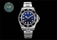 """AR Super 904L Sea-Dweller Montre de Luxe Mens Montre 116660 Gradient Ghost King King Max """"V2"""" Mise à niveau personnalisée 3135 Mouvement Montres mécaniques Montres Montres-bracelets"""