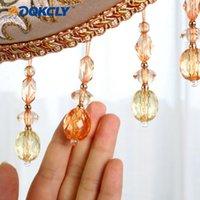 Altro decorazioni per la casa ADQKCLY Eco-friendly Crystal Bread Tenda Trims Graziose nappe 12 misura / lotto Decortazione Accessori in basso