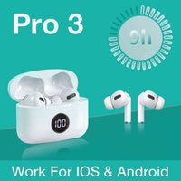 for Airpoddings Pro 3 Wireless Earphone Bluetooth Headset Tws Touch Control Sports 300mah Charging Box Apple Android